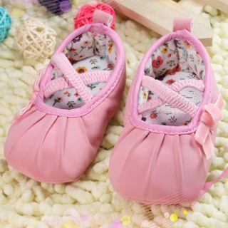 Infant Toddler Baby Girl Pink Ballet Dress Crib Shoes