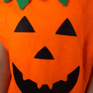 Halloween Costume Pumpkin Suit Clothing with A Lovely Hat for Children Kids