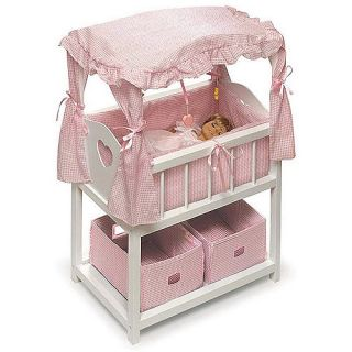 Childs Doll Canopy Crib Bed Bedding Set 4 American Girl