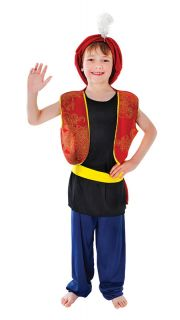 Arabian Arabic Genie Aladdin Boy Costume 122cm to 134cm Fancy Dress Party