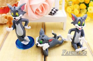 Tom and Jerry Spike Cartoon Action Figures Cat Mouse Dog Figure 9pc