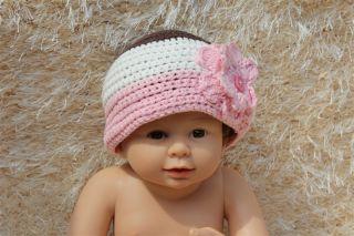 New Cotton Handmade Baby Girl Flower Knit Hat Newborn Baby Photo Prop 0 1Year