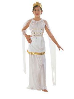 Girls Greek Goddess Athena Roman Egyptian Toga Book Week Day Fancy Dress Costume