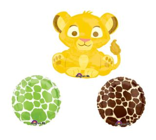 Lion King Simba Baby Shower Giraffe Balloons Decorations Supplies Party Decor