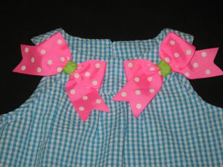 "New ""Blue Owl"" Gingham Shorts Girls Clothes 2T Spring Summer Boutique Toddler"