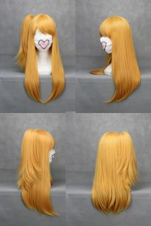 Fairy Tail Lucy Cosplay Wig Hair Costume Blonde Ponytail 176A