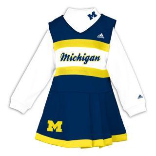 Michigan Wolverines Adidas Cheerleader Dress with Long Sleeve Shirt