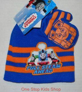 Thomas The Train Toddler Boys Hat Gloves Winter Set Cap Beanie Mittens Percy
