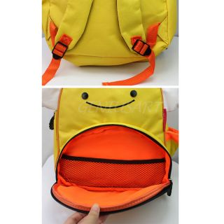 Kids Baby Unisex Cute Animal Bee Cartoon Backpack Shoulder Book School Bag