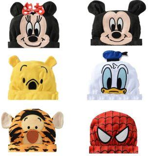 Baby Girl Boy Hat Winter Cartoon Beanie Cap Minnie Mickey Donald Pooh Tigger