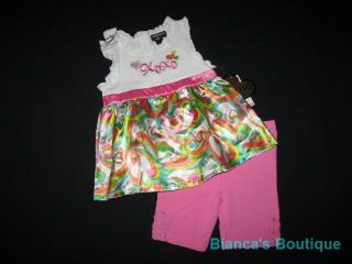 "New ""XOXO Heart Satin"" Shorts Girls Clothes 3T Spring Summer Toddler Boutique"