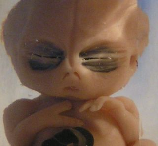 Small Alien Baby in Jar UFO Area 51 Alien Fetus Roswell 115