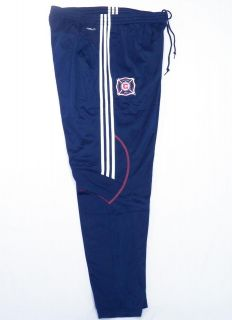 Adidas ClimaCool MLS Chicago Fire Navy Blue Track Pants Soccer Football Mens