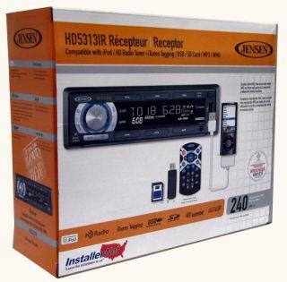 Jensen HD5313IR CD  USB iPod HD Car Stereo Player