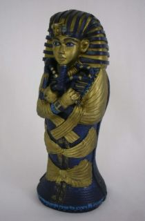 "Egyptian King Tut Sarcophagus Figure 6"" Statue Replica"