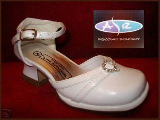 Infant Toddler Girls White Dress Shoes Size 5 6 7 8