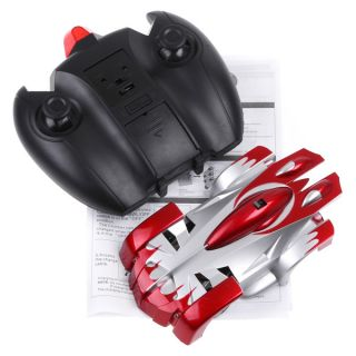 RC Remote Control Wall Floor Climbing Racing Car Toy Red