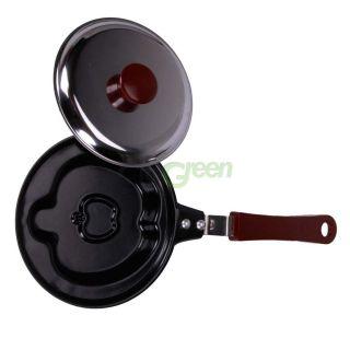 Kitchen Pancake Stainless Steel Plum Apple Shaped Cook Fried Egg Pot Fry Pan