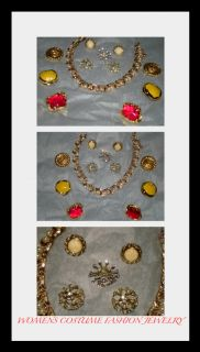 Lot of Womens Costume Jewelry Antique Vintage Old