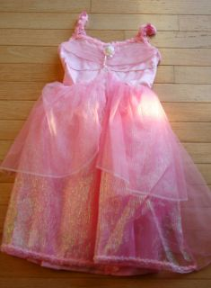 Girls Fantasy Play Barbie Pink Princess Ballerina Gown Costume 4 6X