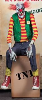Chuckles The Evil Clown Animated Halloween Shaking Prop