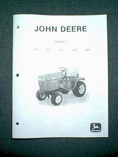 John Deere Lawn Tractor Models 316 317 318 400 420 Service Manual