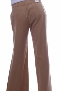 Womens Old Navy Tencel Khaki Light Brown Chinos Wide Leg Pants Size 4 New