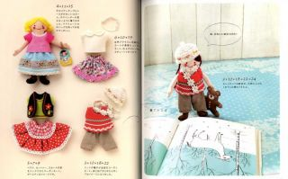 Felt Dolls and Their Clothes Japanese Craft Book