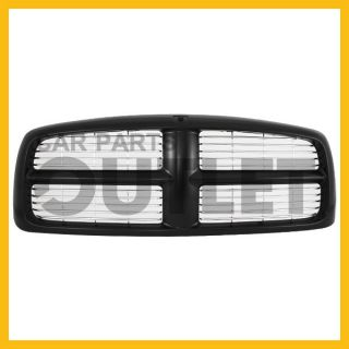 02 05 Dodge RAM 1500 Black Grille Grill Assembly w Chrome Billet Replacement