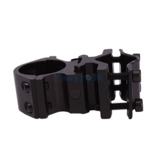 Metal Gun Mount Holder Grip Clip Clamp for Laser Pen Flashlight Black