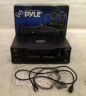 Pyle Home PT270AIU 300 Watt Stereo Receiver Am FM Tuner USB SD iPod Docking 068889023329