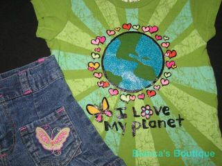 """Children's Place Love Planet"" Shorts Girls 24M Spring Summer Baby Clothes Kids"