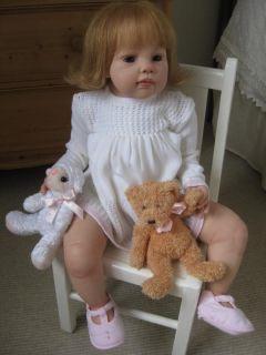 Hushabye Mountain Reborn Toddler Girl Louisa by Jannie de Lange with Human Hair