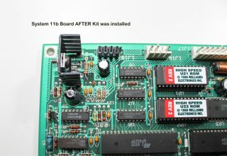 Williams System 11b CPU Conversion Kit to 11A CPU Pinball Machine