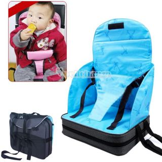 W3LE Portable Toddlers Dining Chair Booster Fold Up Seat Cushion Bag Hot Baby
