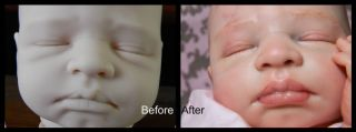 TSD Real Reborn Baby Girl 3D Skin Texture Silicone Tummy Painted Rooted Hair