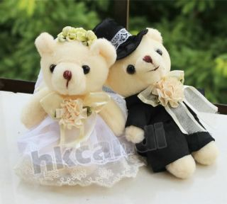 Love's Gifts Couple of White Wedding Teddy Bear Stuffed Animals Wedding Gifts