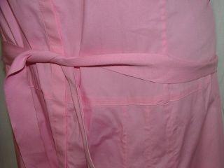 Tahari Pink Shirt Dress Womens Size 12 Long Sleeveless Snap Front