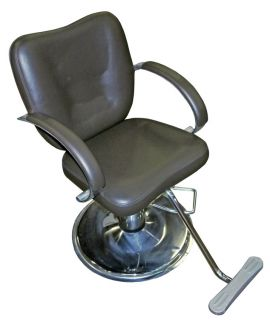 Hydraulic Brown Vinyl Barber Shop Beauty Salon Hair Styling Adjustable Chair