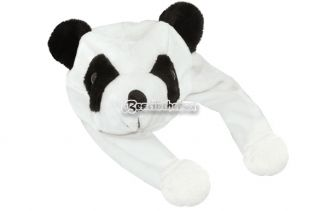 Adorable Plush Cartoon Animal Panda Bear Hat Cap Earmuff Beanie Cute Durable