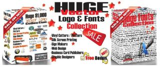 155 000 Vector Clipart Fonts for Vinyl Plotters Cutters Vector Wall Art