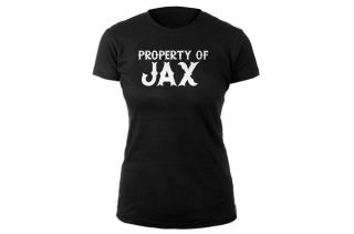 Property of JAX SAMCRO Anarchy Tee Sons of SOA Womens Girls Next Level T Shirt
