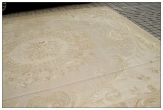 8x10 Pastel Antique French Aubusson Area Rug Subtle Colors Wool Woven Free SHIP