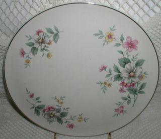 Superior Hall Springtime Pattern Cake Plate