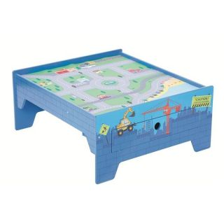 New Construction Activity Table with Play Mat Storage for Lego Trains Cars