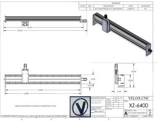 "Velox CNC Router 64"" x Axis Linear Actuator Slide Add to Kit DIY"