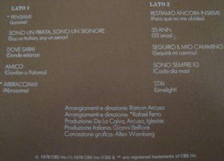 Julio Iglesias Sono Un Pirata Sono Un Signore LP