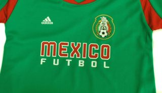 Adidas Futbol Soccer Mexico Team Green Jersey Toddler Size S4PCB MX Green Red