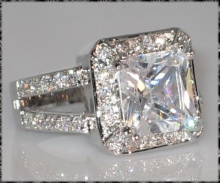 Engagement Wedding Ring Princess Cut