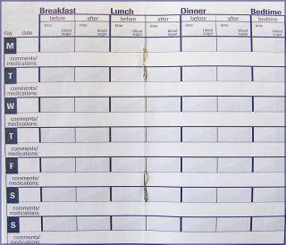 diabetes log book printable on popscreen